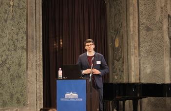 Heil Kristóf Mihály előadása a Fiatal Kutatók és Doktoranduszok X. Nemzetközi Jubileumi Teológuskonferenciáján