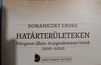 Megjelent Domaniczky Endre Határterületeken című kötete