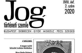 Megjelent a Jogtörténeti Szemle 2020/2. száma