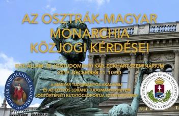 Az Osztrák-Magyar Monarchia közjogi kérdései